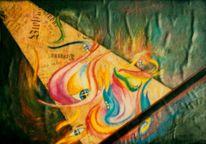 Collage, Licht, Mystik, Augen