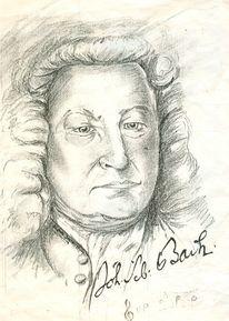 Johann sebastian bach, Zeichnungen, Bach