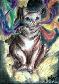 Katze, Visionär, Leben, Körper