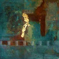 Steinmehle, Mixed media, Acrylmalerei, Airbrush
