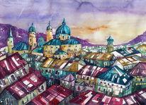 Salzburg, Stadt, Salzburger dom, Häuser