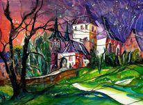 Schloss, Worb, Landschaft, Architektur