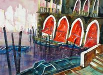 Venezia, Farben, Aquarellmalerei, Wasser