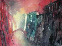 Licht, Venedig, Stadtaquarell, Aquarellmalerei