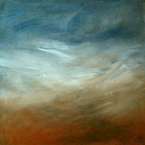Landschaft, Mix, Acrylmalerei, Grau