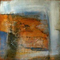Abstrakt, Schwarz weiß, Braun, Acrylmalerei