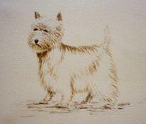 Hund, Aquarellmalerei, Aquarell, Roots