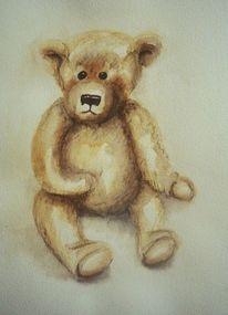 Bär, Aquarellmalerei, Aquarell, Roots