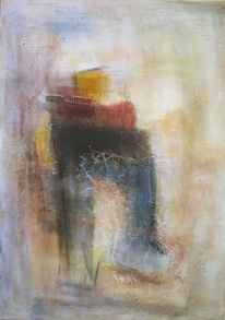 Acrylmalerei, Abstrakt, Malerei, Stiefel