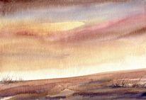 Aquarellmalerei, Horizont, Aquarell, Roots