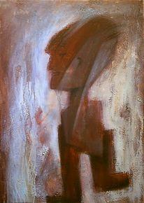 Alien, Figur, Acrylmalerei, Malerei