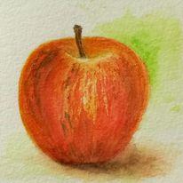 Aquarellmalerei, Apfel, Aquarell