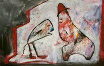 Figur, Acrylmalerei, Kommunikation, Malerei