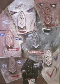 Kopf, Gesicht, Malerei,