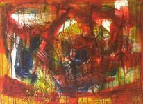 Spinne, Rot, Abstrakt, Netz