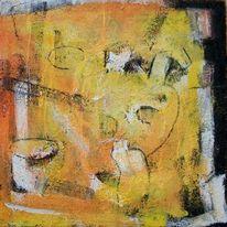 Mix, Schwarz weiß, Gelb, Acrylmalerei