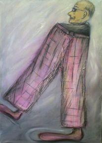 Figur, Acrylmalerei, Malerei, Flucht