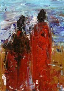 Figur, Unterwegs, Ölmalerei, Malerei