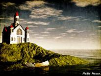 Kapelle, Wasser, Landschaft, Hügel
