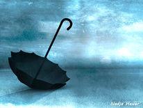 Trüben, Regenschirm, Schwarz, Gefühl