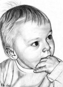 Detailtreu, Portrait, Kinder, Junge