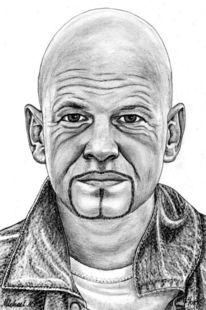 Detailtreu, Prominent, Portrait, Bleistiftzeichnung