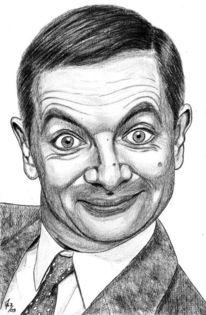 Prominent, Bleistiftzeichnung, Portrait, Detailtreu