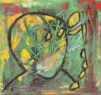Zeit, Kaputt, Malerei, Ölmalerei