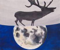 Mond, Krafttier, Himmel, Tiere