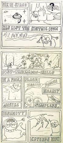 Universum, Tusche, Wahnsinn, Comic