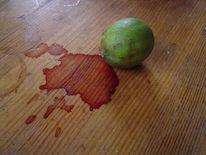 Tisch, Mord, Limetten, Blut