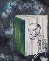 Geschichte, Skelett, Totlachen, Malerei