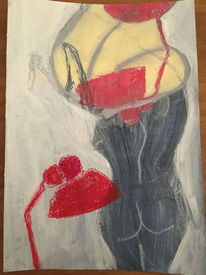 Kreide, Aquarellmalerei, Akt, Formen