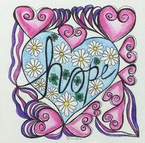 Hoffnung, Gekritzel, Zeichnung, Aquarellmalerei