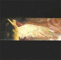 Mann, Engel, Expressionismus, Malerei