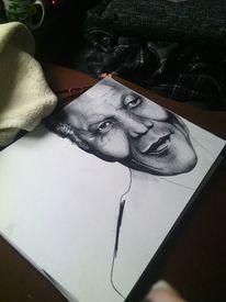 Portrait, Nelson mandela, Schwarz weiß, Kohlezeichnung