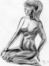Person, Zeichnung, Menschen, Kohlezeichnung