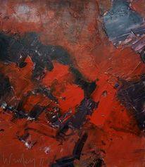 Expressionismus, Acrylmalerei, Holz, Informel