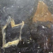 Holz, Abstrakter expressionismus, Abstrakt, Acrylmalerei