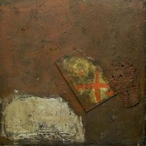 Abstrakt, Holz, Acrylmalerei, Informel