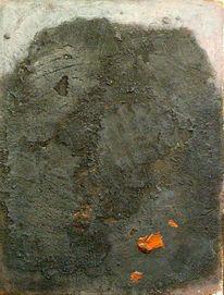 Mischtechnik, Sand, Abstrakt, Acrylmalerei