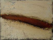 Acrylmalerei, Sand, Abstrakt, Holz