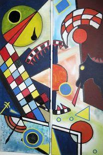 Geometrie, Tilting, Windmühle, Malerei