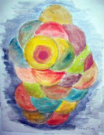 Aquarellmalerei, Venus, Aquarell, Abstrakt