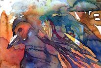 Aquarellmalerei, Phoenix, Vogel, Aquarell