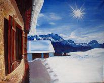 Schnee, Blau, Traum, Himmel