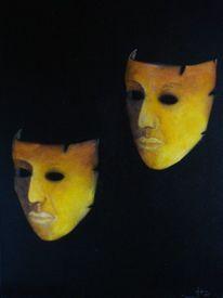 Schwarz gelb, Malerei