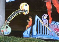 Ennepe, Fenster, Chagall, Acrylmalerei