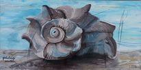 Muschel, Meer, Mediterran, Acrylmalerei