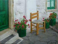 Malerei, Urlaub, Tür, Kos